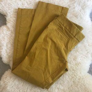 Olive Green Petite Loft Trousers